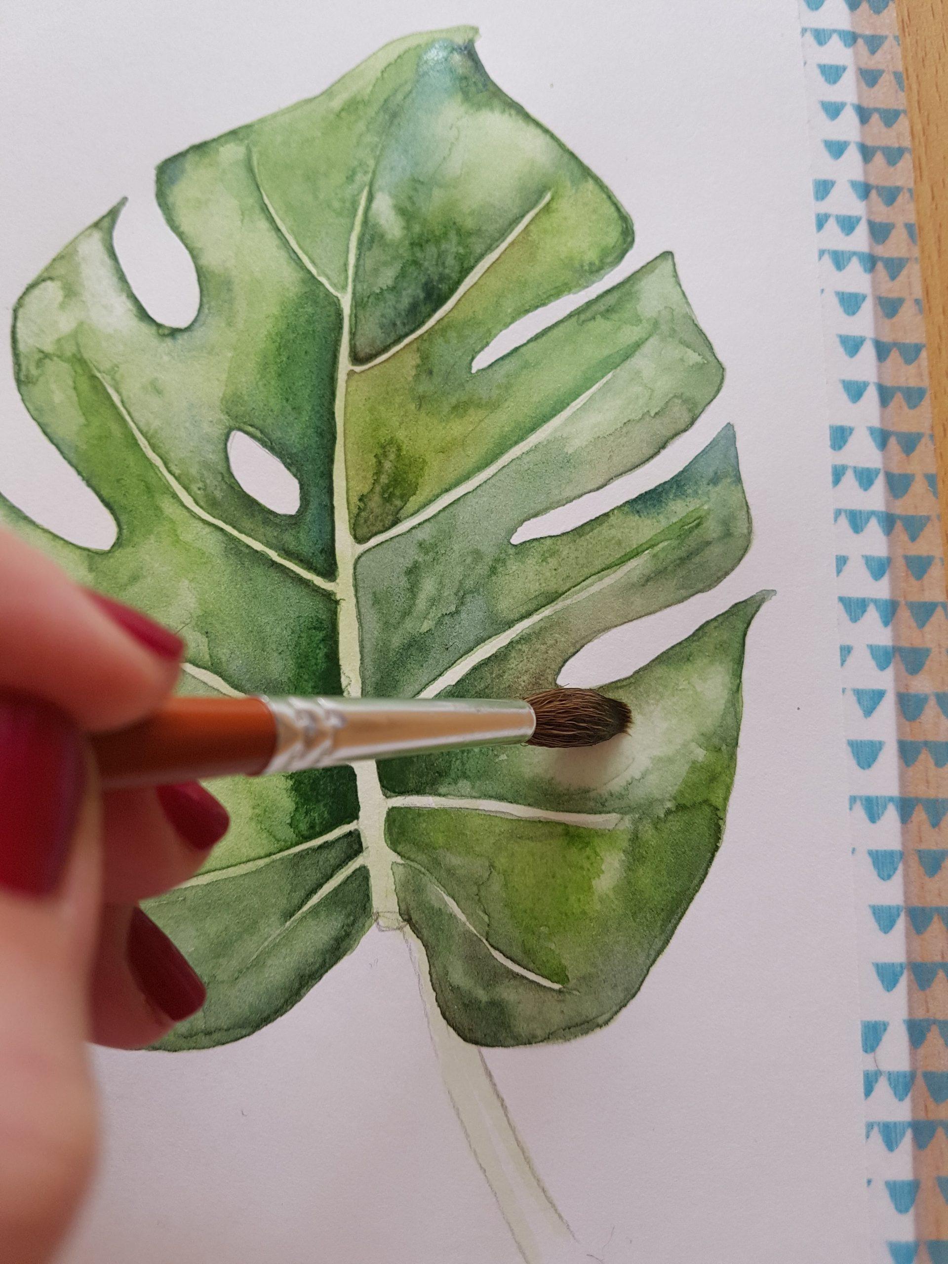 Akvarelový tutoriál - Jak namalovat monsteru