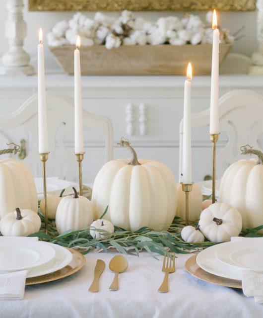 elegantní podzimní stůl